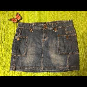 Lei Jean Mini Skirt
